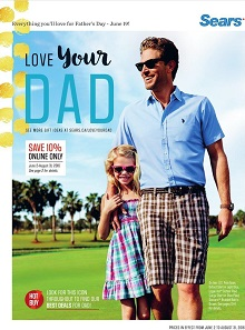 Sears Catalogue Love Your Dad June 2 - August 31 2016