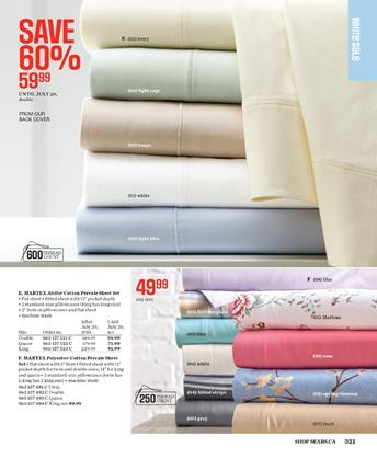 Sears Catalogue Sheet Sets Exhibition with Discounted Prices