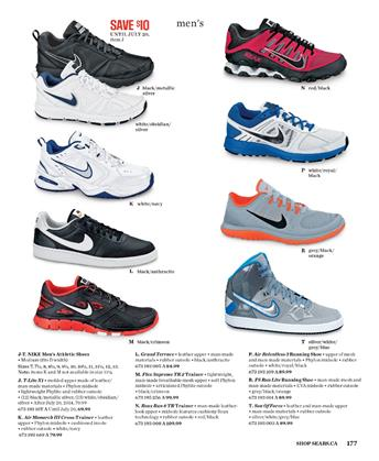 sears sports shoes nike models