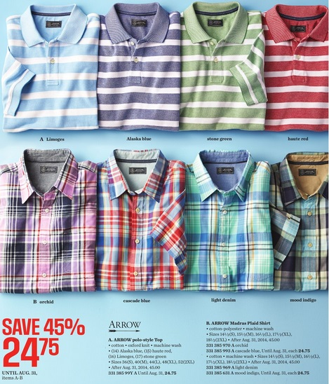 Sears Catalogue Mens Shirts