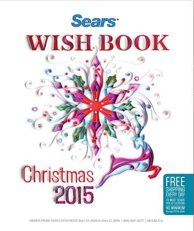 Sears Christmas Wishbook Catalogue October 2015 - June 2016