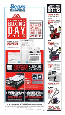 Sears boxing day home sale 2015