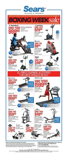 Sears boxing week sale flyer