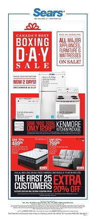 Sears canada boxing day sale 2015