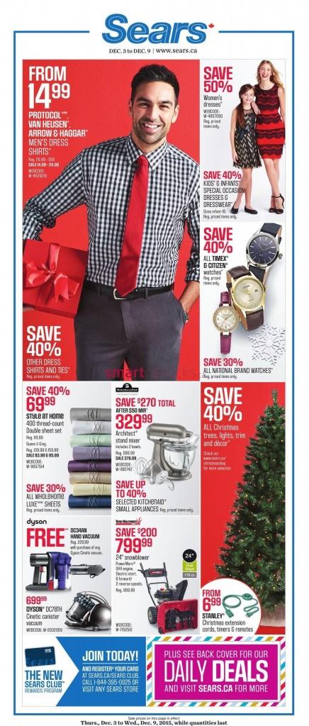 Sears Weekly Flyer November December 3 - 24