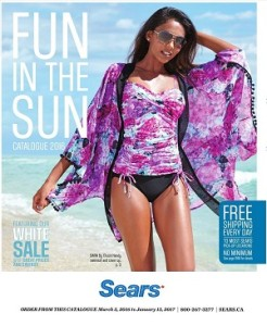 Sears Catalogue 15 April 2016 Ontario Swimsuits